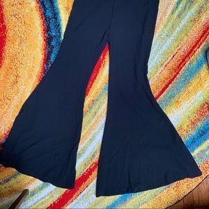 Zara bell leg black pants large